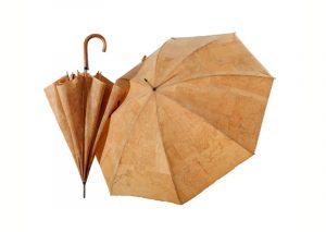 Bæredygtig paraply i kork