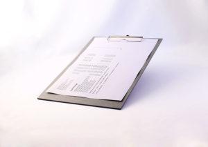 Bæredygtigt clipboard i genbrugspap
