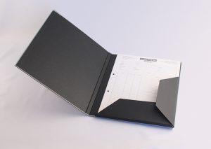 A4 mappe med elastik i gråt genbrugspapir