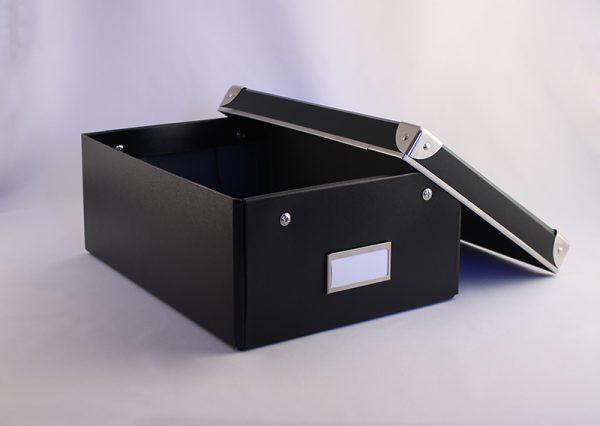 Opbevaringsboks i genbrugspap – sort