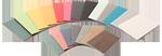 Bæredygtige kontorprodukter - farver - overflader papirlaminat