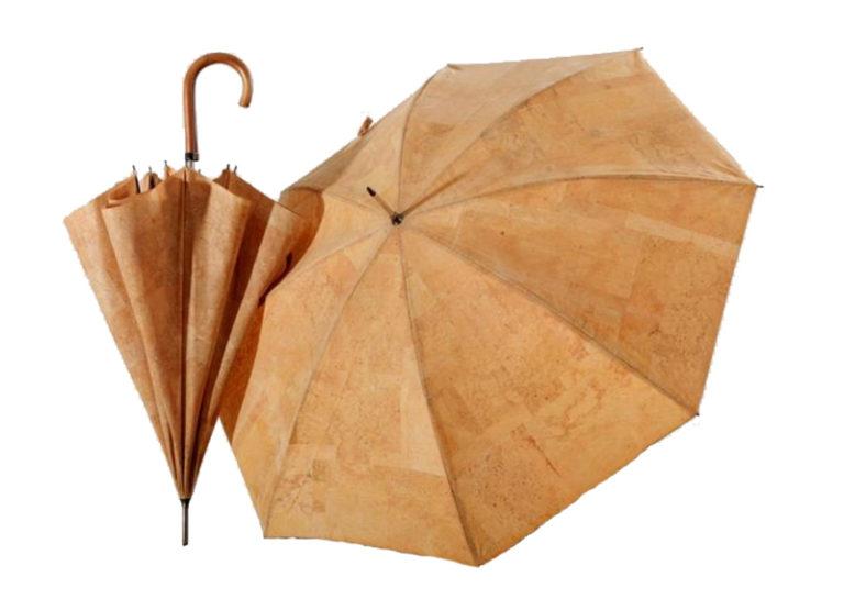 Miljøvenlig paraply i robust kork