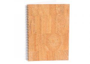 A4 notesbog i bæredygtigt kork