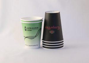 Bæredygtigt, enkeltvægget papkrus til kolde drikke, FSC certificeret pap beklædt med bionedbrydeligt polyethylen (PE)