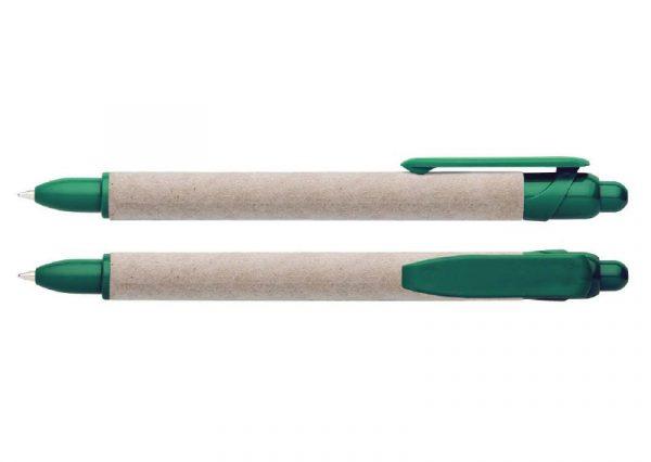 Bæredygtig kuglepen i genbrugspapir og bioplast