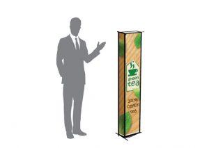 Bionedbrydeligt, transportabelt og bæredygtigt messetårn med logo