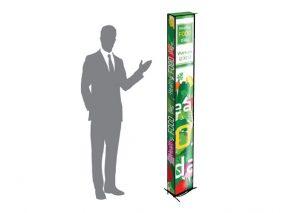 Bæredygtigt messetårn med logo