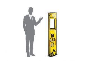 Transportabel bæredygtig messestander med logo