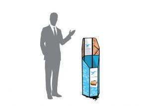 Sammenklappelig, bæredygtig papirkurv / displaykurv til messer, valgmøder o.l.