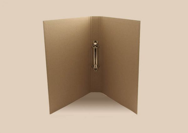 Ring binder A4 nature in sustainable recycled paper