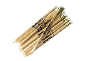 Unpainted pencils in sustainable beech wood