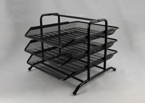 Brevbakke med 3 bakker i sort stål