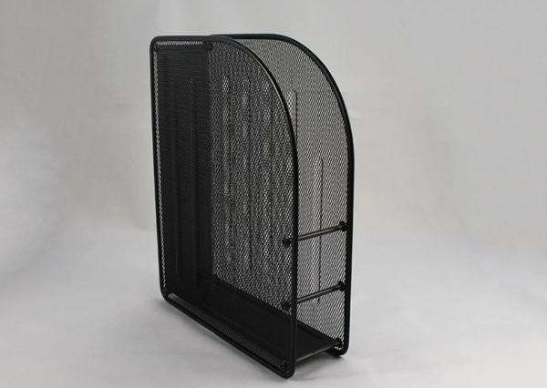 Tidsskriftholder i sort staal