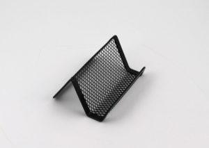 Visitkortholder i sort stål