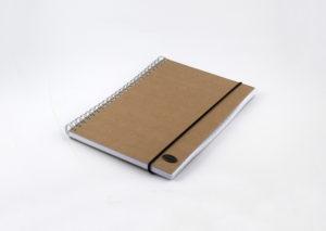 Bæredygtig notesbog med elastik