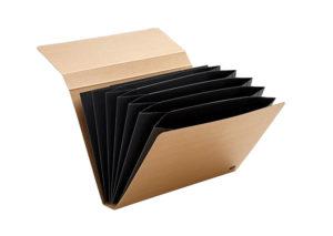 Arkivmappe i bæredygtigt kraft papir