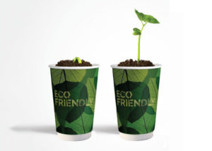 Sustainable PLA paper cup in 100% natural materials