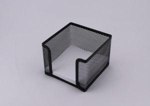 Memoblokholder i sort stål