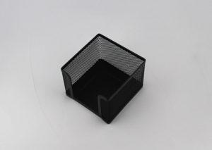 Bæredygtig memoblokholder i sort stål