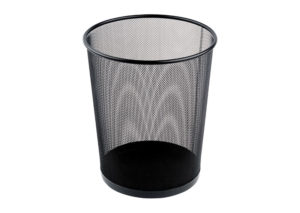 Bin in black steel - large