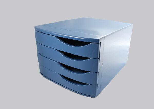Bæredygtigt skuffemøbel i genbrugsplast