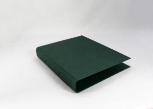 Ringbind A4 grøn i genbrugspapir