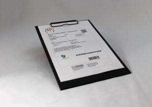 Bæredygtigt clipboard i genbrugspapir