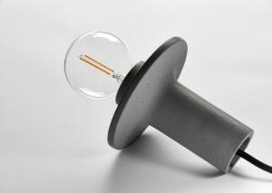 Designlampe i bæredygtig beton