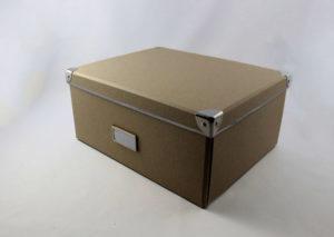 Bæredygtig opbevaringsboks i genbrugspapir