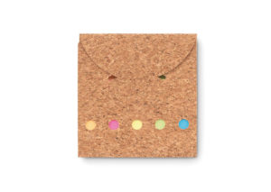 Sustainable memoblok with cork cover