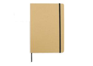 Bæredygtig notesbog i genbrugspap med elastiklukning
