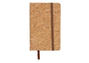 Bæredygtig notesbog i kork med elastiklukning