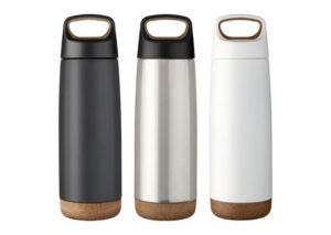 Bæredygtig termoflaske i stål og kork