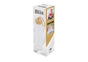 Bæredygtig glasflaske med bambuslåg