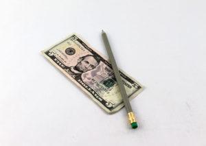 Bæredygtig blyant i genbrugte pengesedler