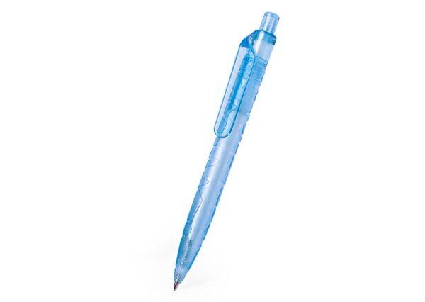 Bæredygtig kuglepen fremstillet af genbrugte vandflasker