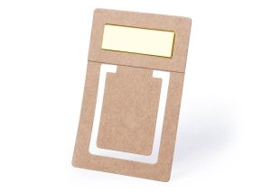 Klimavenligt bogmærke i genbrugspap med sticky notes