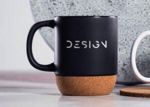 Miljøvenligt krus i keramik og kork