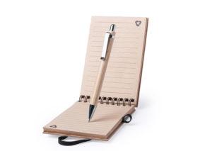 Bæredygtig notesblok og kuglepen i bambus