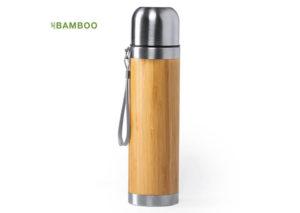 Bæredygtig termoflaske i bambus og rustfri stål