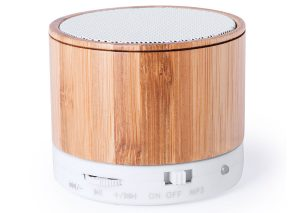 Bluetooth speaker made from sustainable bamboo