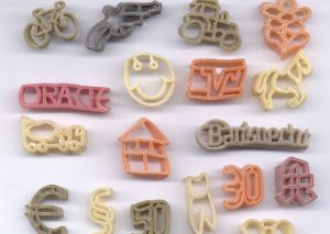 Pasta with logo in natural colors