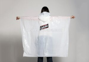 Biodegradable raincoat made from sustainable bioplastic PLA