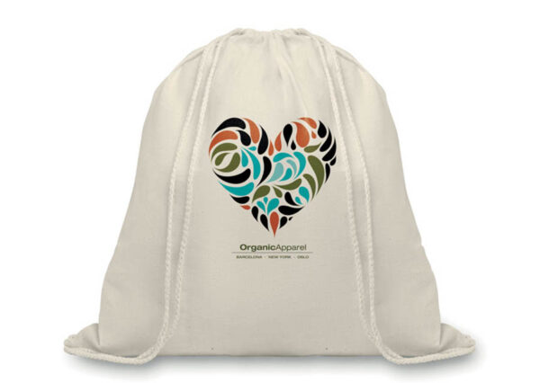 Backpack made from GOTS certified organic cotton