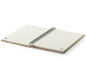 Sustainable cork notebook with rubber band