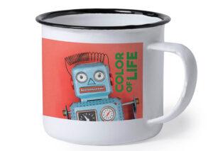Sustainable iron/enamel mug with full color printing