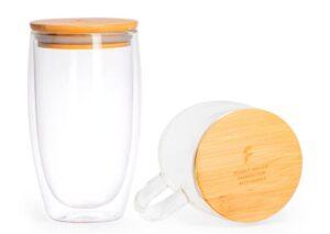 Bæredygtigt to go termokrus med bambuslåg