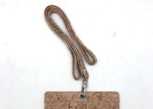 Keyhanger i miljøvenlig kork m/u navneskilt
