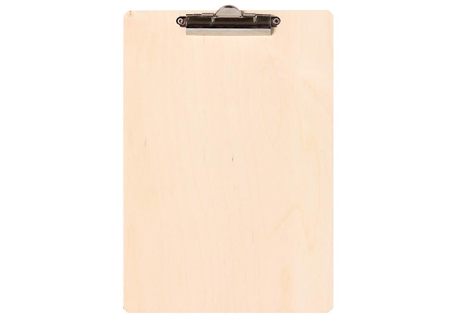 Environmentally friendly and robust birch wood clipboard