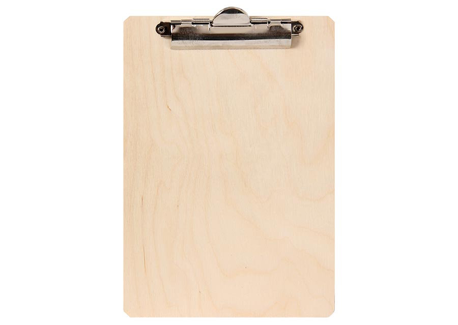 Environmentally friendly and robust birch wood clipboard A5